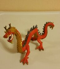 """Horned Red & Gold Dragon 8"""" Long 5"""" Tall # 0810"""