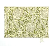New listing Williams Sonoma Set 4 Placemats Green Beige Floral Print Canvas Table Decor