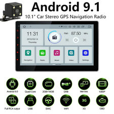Double 2Din 10.1inch Android 9.1 Quad Core Car Radio In Dash Stereo GPS 4G OBDII