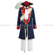 Hetalia: Axis Powers Prussia Gilbert Seven War Uniform Clothing Cosplay Costume