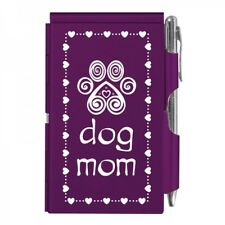 #2141 DOG MOM Wellspring Flip Note Pocket Notepad Purple Paw Puppy Love Heart