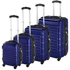 ABS Reisekoffer Set 4tlg. Trolley Kofferset Hartschalenkoffer Hartschale blau