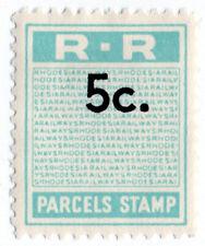 (I.B) Rhodesia Railways : Parcels Stamp 5c (unissued)