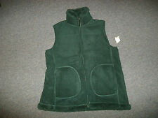 Mountain Lake Green Reversible VEST Womens Size: S Faux Fur w/ Pockets Warm