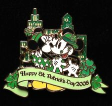 DISNEY PIN - MICKEY MOUSE MINNIE Happy St Patrick's Day 2008 WOD NYC LE - New