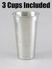 (3) Hamilton Beach Stainless Steel MilkShake Replacement Drink Mixer Cup