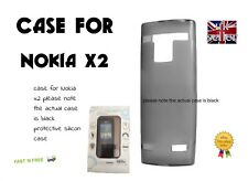 PRO TEC GLACIER PROTECTIVE SILICONE CASE COVER FOR NOKIA X2 - BLACK