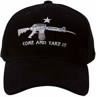 Black AR-15 Machine Gun NRA Rights M4 Come and Take it Baseball Style Cap Hat