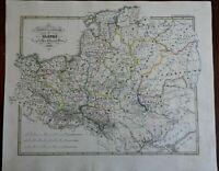 Slavic Peoples and Lands Prussia Poland Bohemia c. 1850 Spruner historical map