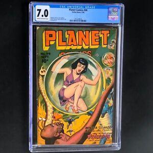 Planet Comics #44 (Fiction House 1946) 💥 CGC 7.0 💥 Rare Golden Age Comic!