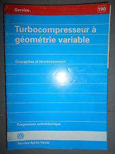 VW turbocompresseur à géométrie variable : programme autodidactique 190