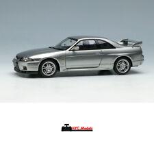 Make Up EIDOLON 1:43 Nissan Skyline GT-R R33 V-spec 1997 EM381B Sonic Silver