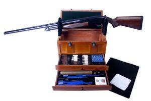 TBX96W GunMaster Wooden Toolbox -- 63 piece Universal Select Gun Cleaning Kit