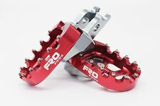 SALE FRO Systems Motocross MX Dirt Bike Billet Footpegs Foot rest - Red Honda