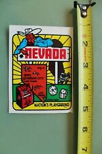 New listing Nevada Devil's Playground Cowboy V12 Vintage 1960's Water Transfer Window Decal