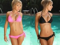 Brand New Black or Pink Womens Ladies Bikini Set size 6/8/10 Uk seller