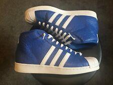 Men's Adidas high top sneaker superstar shelltoe animal blue dodger LA 11.0