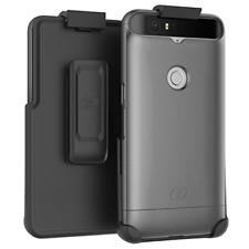 Nexus 6P Belt Case, (SlimShield) Secure Fit Holster Clip +Slider Shell (Gray)