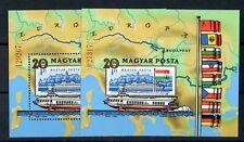 UNGARN Bl.153A+B ** Donauschiffe-Blockpaar 1981 ME 40,-++ !!! (109460)