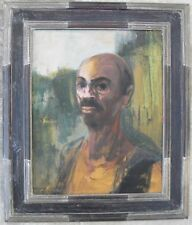 Giuseppe MOTTI (Arena Po, Pavia 1908–Milano 1988) Autoritratto padano 50x40 1966