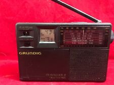 Grundig Traveller II 7-band Travel Radio FM/MW/SW Alarm Clock