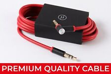 CABLE FOR BEATS HEADPHONES 3.5mm AUX STUDIO SOLO WIRE LEAD AUDIO RED