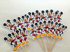 Disney Mickey Mouse Cupcake Topper Birthday Party Cake x18 Both Prints