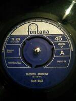 "Joan Baez – Farewell Angelina Vinyl 7"" Single UK Fontana TF 639 1965"