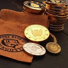 Hogwarts Wizarding Coins Galleons Coin 3PCS Gringotts Bank Coins New In Sack