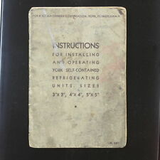 1930 York Ice Machinery Corp Instructions for Installing & Operating Book