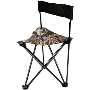 Ameristep AMEFT1013 All-Weather Foldable Backpack Hunting Camp Chair, Mossy Oak