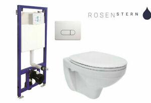 WC-Vorwandelement Wand WC SET WC-Sitz Soft Close Komplettset Spülkasten NEU OVP