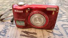 Nikon COOLPIX L26 16.1MP Digital Camera - Red with 4GB SD Card