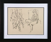 Peter Collins ARCA - 20th Century Pen and Ink Drawing, Figure and Armchair