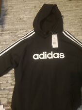 Black Adidas Athletic Hoodie/Sweatshirt with Adidas Logo/Sleeve Stripes
