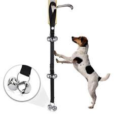US Black Adjustable Dog Door Bells Potty Pet Training Puppy Housetraining Gift