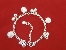 Fashion Women SHINY BLING JEWELRY Pendant Bracelet  Bangle Chain-UK stock
