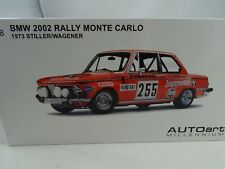 1:18 Autoart #87345 BMW 2002 Rally Monte Carlo 1973 Silencieux/Nelly #255 RARE