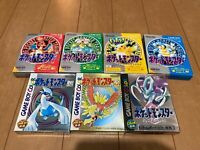 GameBoy PocketMonster 7 Pokemon Games with BOX and Manual
