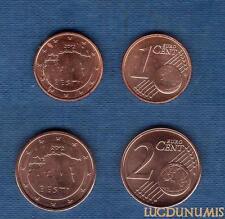 Estonie 2012 – Lot de 2 pièces 1 centime et 2 centimes SPL de rouleau