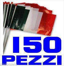 EUROPEI CALCIO bandiera ITALIA plastica 150 PEZZI  polietilene cm 30 x 20 STADIO