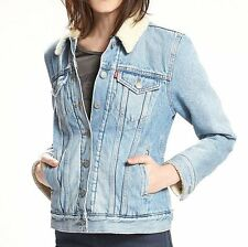 Levi's Women's Sherpa-Lined Trucker Denim Jacket  - L