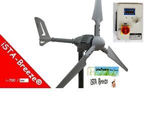 Windgenerator  24V / i-700 IstaBreeze+Charge controller 800w 24v wind turbine