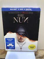 The Nun w/Slipcover (Blu Ray, DVD, Digital) sealed