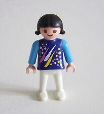 PLAYMOBIL (3201) ENFANT MODERNE - Petite Fille Pull Bleu Pantalon Blanc