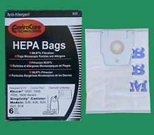 6 Type H HEPA Bags fit Riccar Model STINE CHAR STAR IMMAC IMPEC Vacuum Cleaners