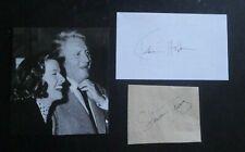 SPENCER TRACY SIGNED & KATHARINE HEPBURN SIGNED AUTOGRAPHS WITH BOOK PHOTO