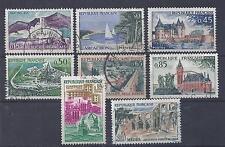 France - n° 1311 à 1318  oblitérés - Série touristique
