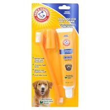 ARM & HAMMER pasta de dientes y Kit de Cepillo de Dientes para Perros Doble Cabeza Dedo Cepillo Cepillo
