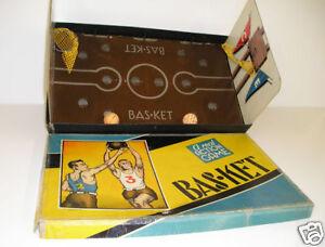 1938 basketball shooting board game tabletop REAL NETS!